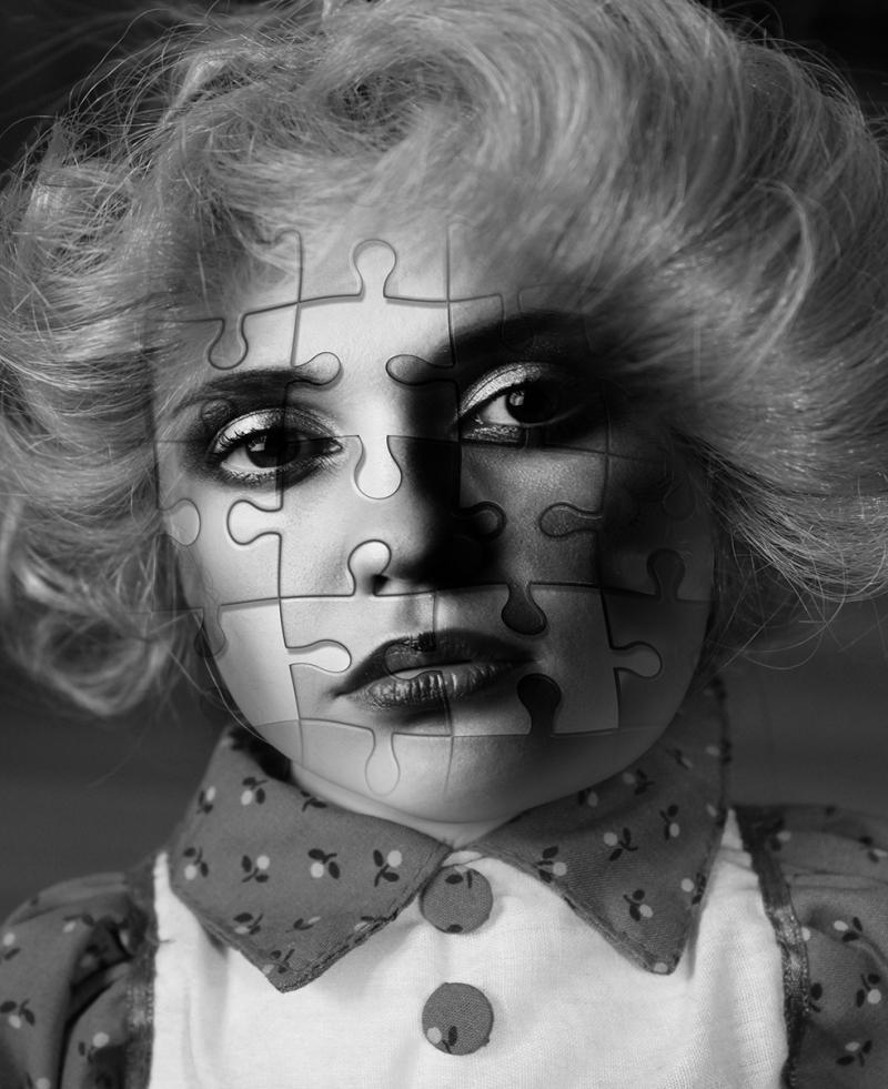 Puzzle Yüz Popüler Kültür Kanvas Tablo