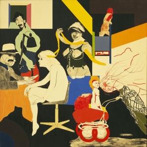 R B Kitaj The Ohio Gang Yagli Boya Klasik Sanat Kanvas Tablo