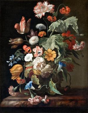 Rachel Ruysch 1 Vazo İçinde Çiçekler Klasik Sanat Kanvas Tablo