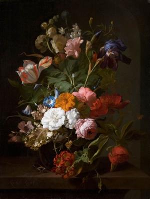 Rachel Ruysch 2 Vazo İçinde Çiçekler Klasik Sanat Kanvas Tablo
