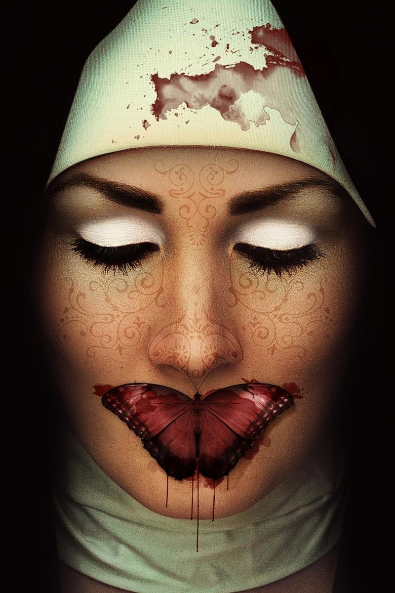 Rahibe Fotoğraf Kanvas Tablo