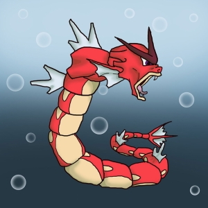 Red Gyarados 2 Pokemon Karakterleri Kanvas Tablo