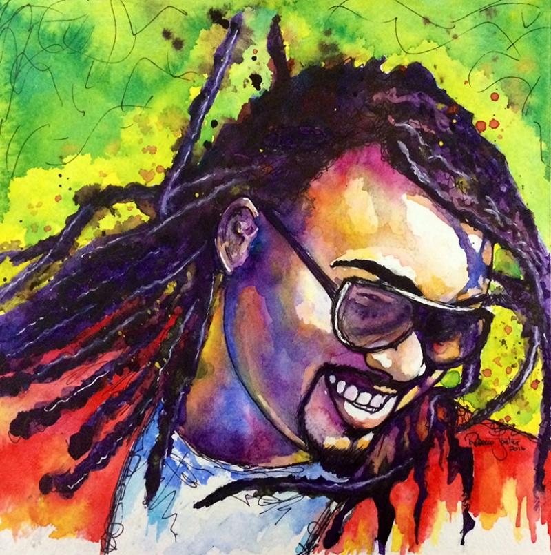 Reggy Man Yağlı Boya Sanat Kanvas Tablo