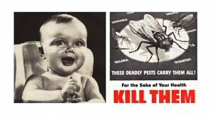 Reklam Bebek ve Sivrisinek Popüler Kültür Kanvas Tablo