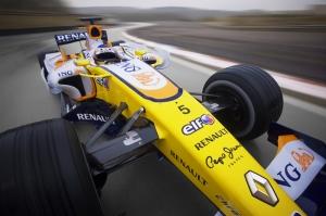Renault Formula 1 Araçlar Kanvas Tablo