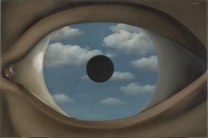 Rene Magritte Belçika-1929, Hatalı Ayna-2, Klasik Sanat Kanvas Tablo