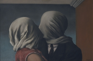 Rene Magritte, Belçika, Surrealizm Aşıklar, The Lovers Klasik Sanat Kanvas Tablo