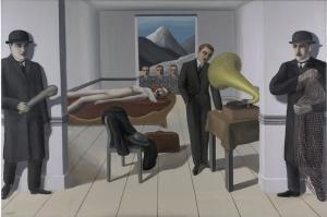 Rene Magritte, Belçika, Sürrealizm, Rene Magritte'yi Tehdit Eden Katil Klasik Sanat Kanvas Tablo