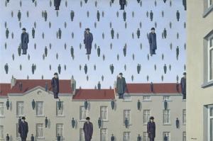 Rene Magritte, Belçika, Sürrealizm, Yağan Takımlar Klasik Sanat Kanvas Tablo