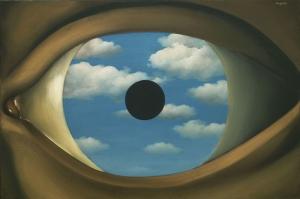 Rene Magritte Hatali Ayna Yagli Boya Klasik Sanat Kanvas Tablo