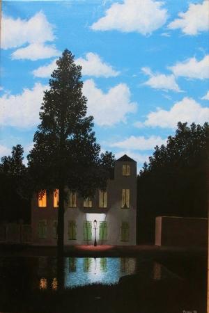 Rene Magritte Işıkların Krallığı-2 Klasik Sanat Kanvas Tablo