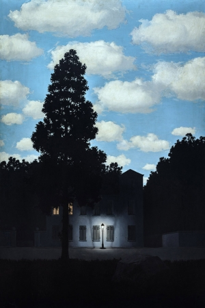 Rene Magritte Işıkların Krallığı, The Empire Of Lights Klasik Sanat Kanvas Tablo
