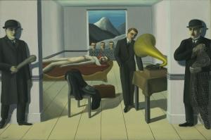 Rene Magritte Katil Yagli Boya Klasik Sanat Kanvas Tablo