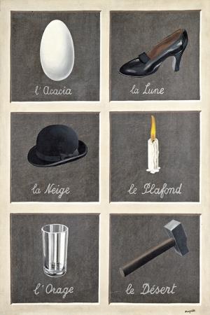 Rene Magritte, The ınterpretation Of Dreams 1930, Rüyaların Yorumu Klasik Sanat Kanvas Tablo
