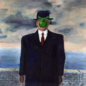 Rene Magritte, The Sun Of Man, Adamın Oğlu Klasik Sanat Kanvas Tablo
