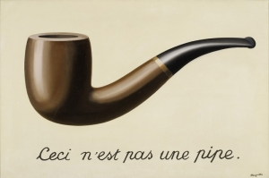 Rene Magritte, The Treachrene Magritte, The Treachery of Images, This is not a Pipe, Klasik Sanat Kanvas Tablo