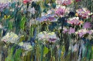 Rengarenk Çiçekler 11 Yağlı Boya Dekoratif Kanvas Tablo
