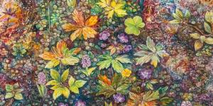 Rengarenk Çiçekler 13 Yağlı Boya Sanat Kanvas Tablo