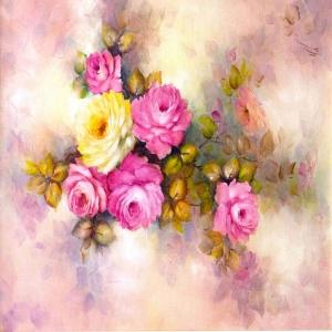 Rengarenk Çiçekler 2, Dekoratif Kanvas Tablo