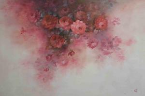 Rengarenk Çiçekler 3 Yağlı Boya Dekoratif Kanvas Tablo