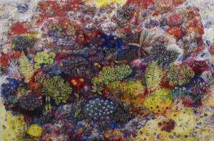Rengarenk Çiçekler 9 Yağlı Boya Dekoratif Kanvas Tablo