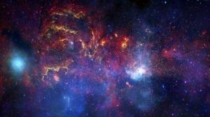 Rengarenk Evren Dünya & Uzay Kanvas Tablo