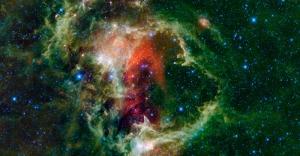 Rengarenk Galaksi Dünya & Uzay Kanvas Tablo