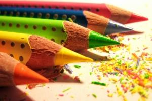 Rengarenk Kalemler Dijital fantastik Fotoğraf Kanvas Tablo