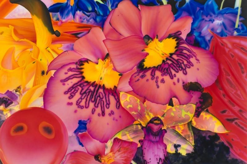 Rengarenk Orkide 5 Yağlı Boya Dekoratif Kanvas Tablo