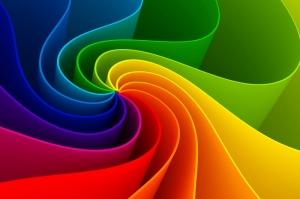Rengarenk Renk Değirmeni Dijital Fantastik Kanvas Tablo