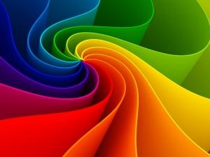 Renk Dalgası Abstract Dijital ve Fantastik Kanvas Tablo