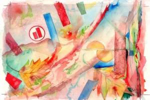 Renk Fırtınası Soyut Abstract Kanvas Tablo