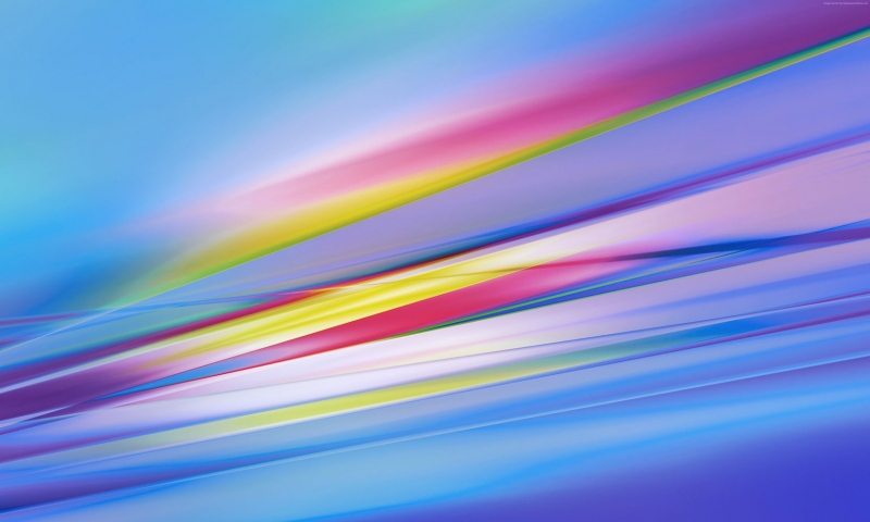 Renk Kuşağı Abstract Kanvas Tablo