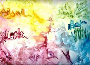 Renkler Soyut Kompozisyon Abstract Yağlı Boya Sanat Kanvas Tablo