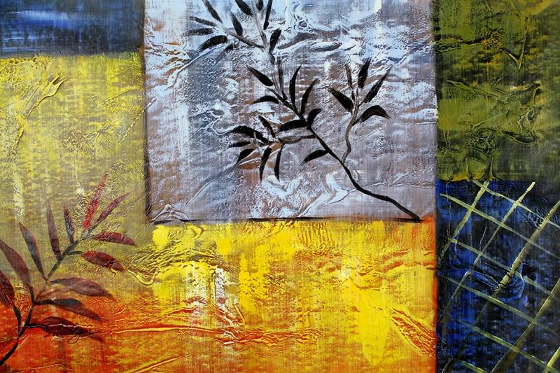 Renkler ve Çiçekler Sanat Kanvas Tablo