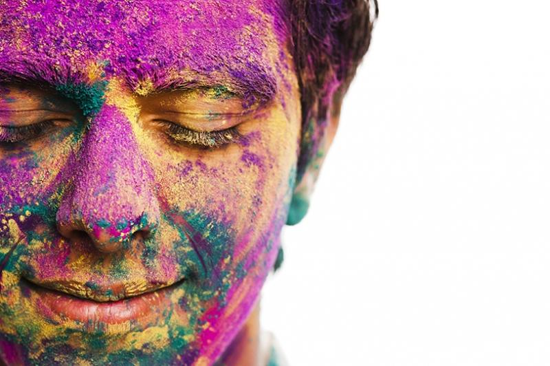 Renklerin Mutluluğu Fotoğraf Kanvas Tablo