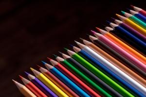 Renkli Boya Kalemleri Fotoğraf Kanvas Tablo