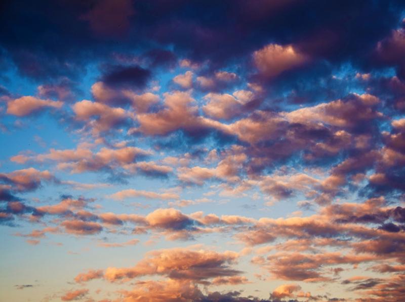 Renkli Bulutlar ve Gün Batımı Doğa Manzaraları Kanvas Tablo