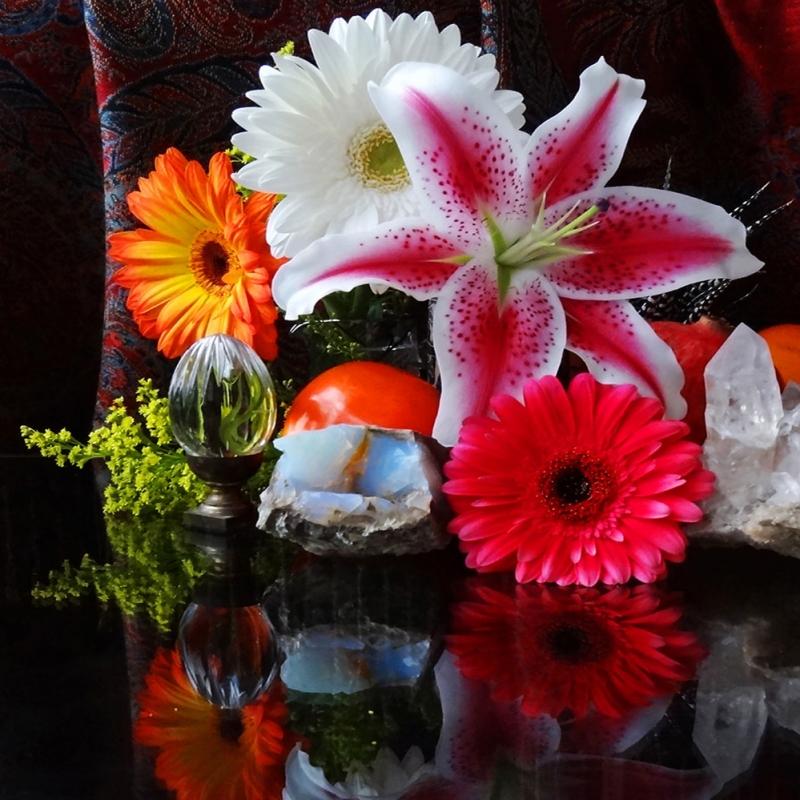 Renkli Çiçekler 2 Dekoratif  Kanvas Tablo