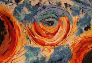 Renkli Çiçekler Canlı Renkler Çiçekler Soyut Yağlı Boya Abstract Kanvas Tablo