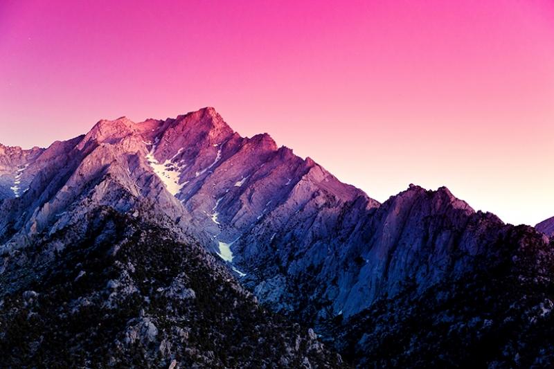 Renkli Dağ Manzarası Doğa Manzaraları Kanvas Tablo