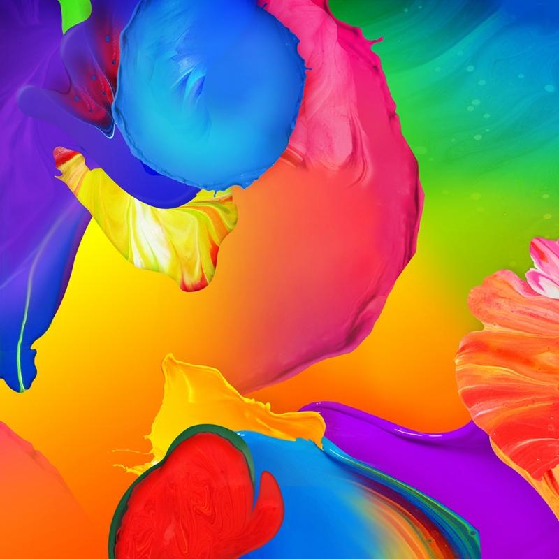 Renkli Duvar Kağıdı Dijital ve Fantastik Kanvas Tablo