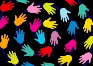 Renkli Eller Bebek & Çocuk Dünyası Kanvas Tablo