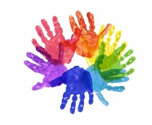 Renkli Eller Dijital ve Fantastik Kanvas Tablo