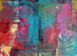 Renkli Harmonisi Abstract Dijital ve Fantastik Kanvas Tablo