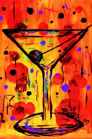 Renkli Kadeh Yağlı Boya Sanat Kanvas Tablo