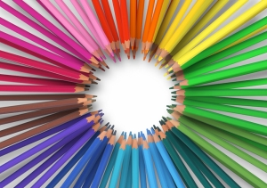 Renkli Kalemler Popüler Kültür Kanvas Tablo