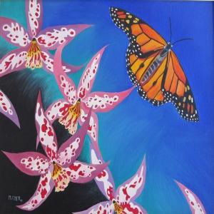 Renkli Kelebekler 1, Dekoratif Kanvas Tablo
