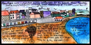Renkli Köy Çocuk Odası Kanvas Tablo