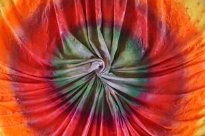 Renkli Kumaş Fotoğraf Kanvas Tablo